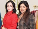 Farah Israr and Hina Salman. Fiction Concepts by Rabia Wahab launches in Lahore. PHOTO COURTESY BILAL MUKHTAR EVENTS & PR