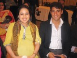 Fatima and Yasir Arafat. Indus Raag launches in London. PHOTO COURTESY IDEAS EVENTS PR