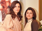 Lubna and Maria. Fiction Concepts by Rabia Wahab launches in Lahore. PHOTO COURTESY BILAL MUKHTAR EVENTS & PR