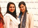 Shafia Agha and Fatima Naqvi. Pantene Pakistan partners with Nina Lotia to launch its new range of products in Karachi. PHOTO COURTESY XENITH PR