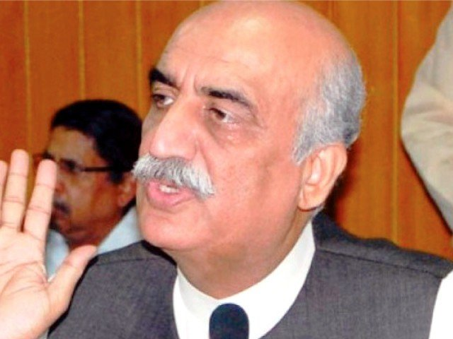 File photo of Syed Khursheed Shah. PHOTO: FILE