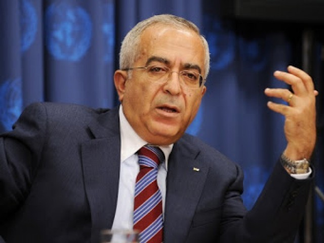 A file photo of Palestinian prime minister Salam Fayyad. PHOTO: AFP