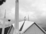 Faisal Mosque in Islamabad after rain. PHOTO: @SUPERMEMON