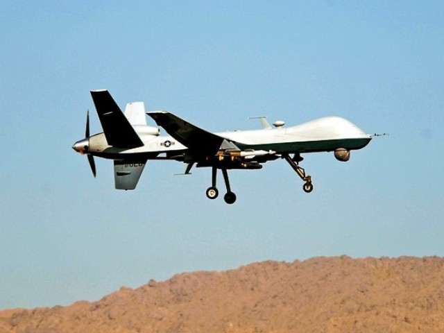 US drone strike near the border between North and South Waziristan agencies . PHOTO: AFP/FILE