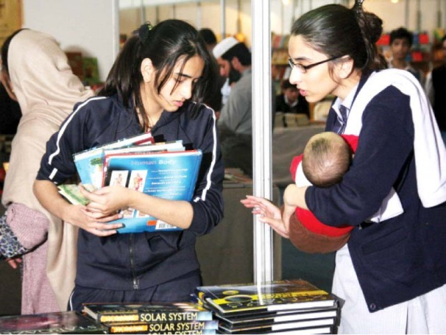 Several distributors and publishers said there was a lot of interest in books from India. PHOTO: ABID NAWAZ