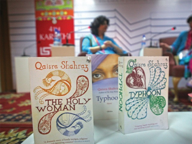 Qaisra Shahraz's The Holy Woman is a potboiler romance about a woman forced to marry the Quran in a rural backwater. PHOTO: EXPRESS