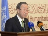 A photo showing UN chief Ban Ki-Moon during a conference. PHOTO: REUTERS