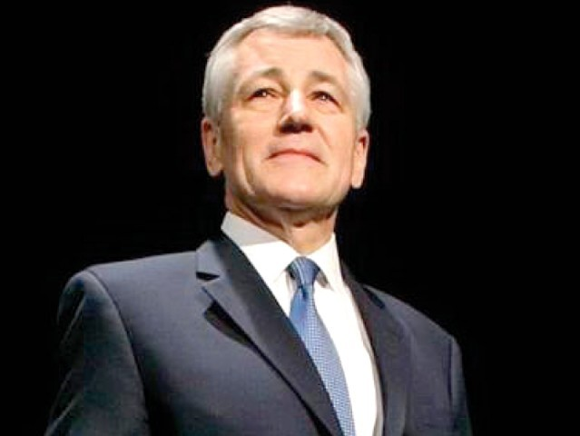 Hagel has been nominated as the new US Secretary of Defence, but he needs to be confirmed by the US Senate. PHOTO: FILE