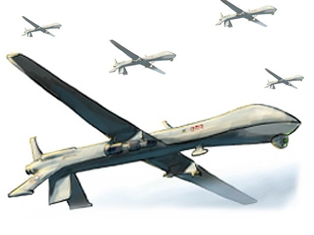 The US army might take over part of the drone programme from the CIA. PHOTO: FILE