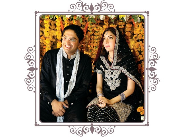 Sharmila is the love of my life, confesses 30-year-old Hashaam Riaz Sheikh. PHOTO: AIJAZ@AJSTUDIOS / DESIGN: KIRAN SHAHID