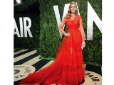 Hilary Swank in red Valentino from spring couture 2013