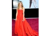 Jennifer Aniston in strapless Valentino ball gown