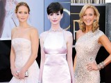 Pale Pink gowns spotted at the Oscars