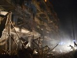 A Pakistani rescuer works at the site of the bomb blast in Karachi on March 3, 2013 PHOTO: AFP