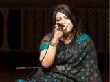 Upcoming artist Tina Nader pays homage to the tunes of Mehnaz Begum. PHOTO: MYRA IQBAL/EXPRESS