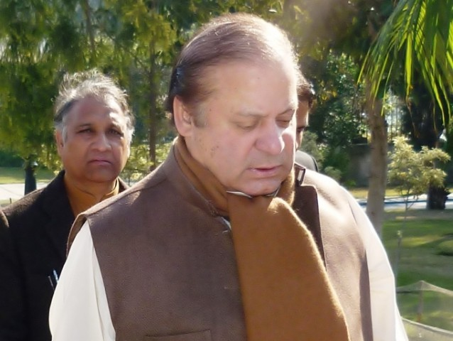 A file photo of PML-N chief Nawaz Sharif. PHOTO: ISRARUL HAQ/EXPRESS