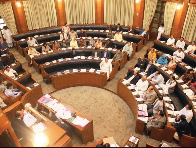 File photo of the Sindh Assembly. PHOTO: ONLINE/FILE