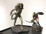 Figures of a number of prominent movie characters, including Johnny Depp from Pirates of the Caribbean and Neytiri from Avatar are up for sale at IVS Gallery till March 30. PHOTO: AYESHA MIR/ EXPRESS