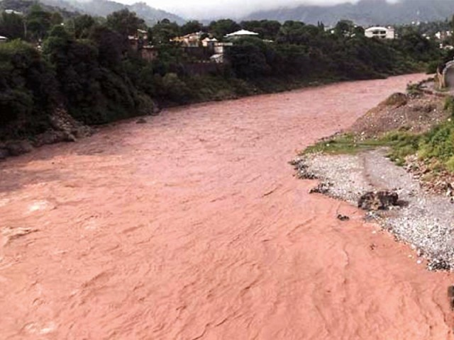 A view of flash floods that hit Muzaffarabad. PHOTO: FILE