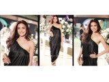 Fauzia Aman in a chic Shehla Chatoor one-shoulder dress at the HUM Awards.