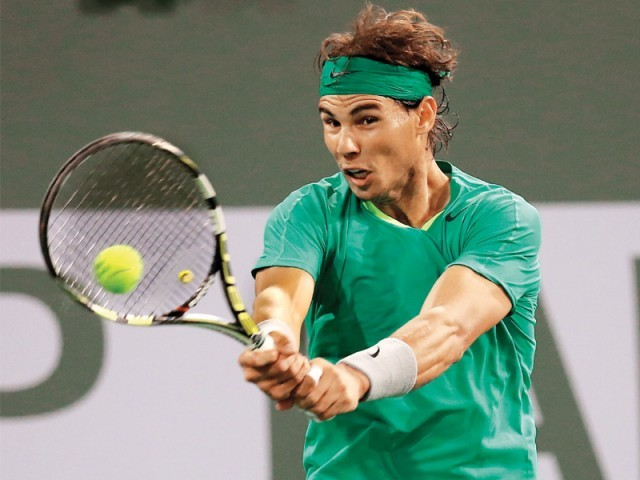 Nadal declared that he played better in the match against Federer than his last one against Ernests Gulbis. PHOTO: AFP
