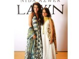 Nida Azwer and Humaima Malik at the Karachi lawn preview