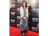 Meesha Shafi in JJ Valaya at Karachi lawn preview