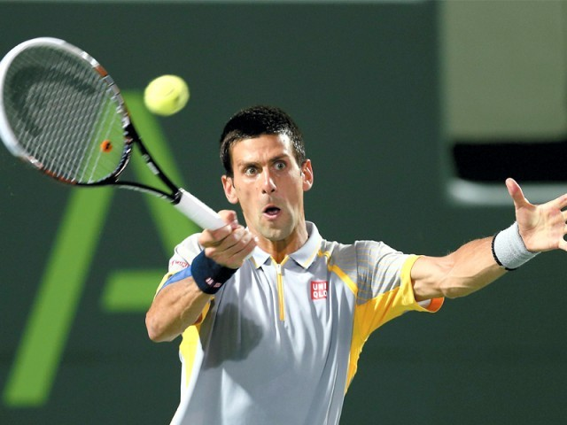 Novak Djokovic and Maria Sharapova raced into the third round of the Miami Masters, beating their opponents to face the next hurdle. PHOTO: AFP
