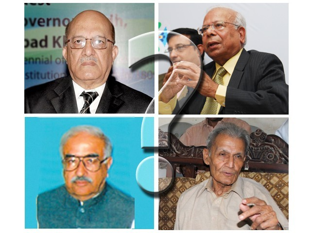 The PPP had proposed the names of Dr Ishrat Husain and Justice (retd) Mir Hazar Khan Khoso. PML-N's nominees are Justice (retd) Nasir Aslam Zahid and Rasool Bux Paliejo.