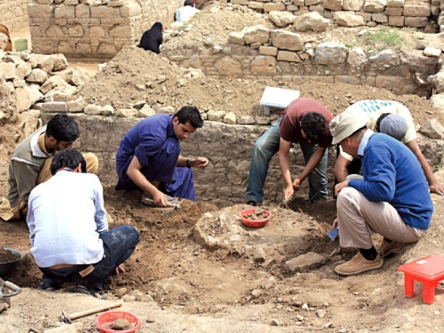 A total of 200 students, of masters-level and higher are taking turns participating in the excavation. PHOTO: EXPRESS