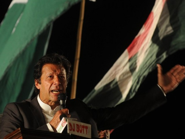 File photo of PTI chairman Imran Khan. PHOTO: AFP