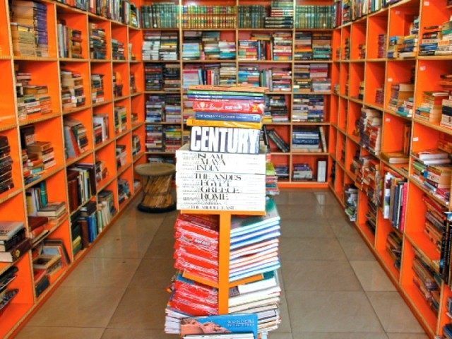 Mr Old Books Collection in Boat Basin opened its doors to the city's book lovers three months ago. It also has a branch in Khadda Market. The orange shelves are lined with not only classics from Western literature but also the work of heavyweights from Urdu literature. PHOTO: AYESHA MIR/EXPRESS