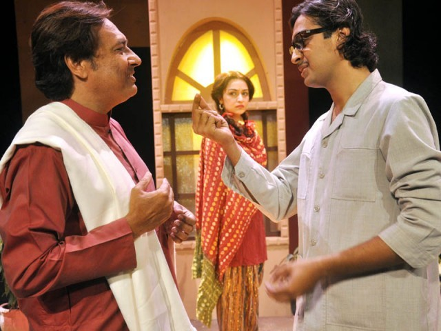 Napa's faculty members and students perform to revive theatre-going culture in Karachi. PHOTO: PUBLICITY