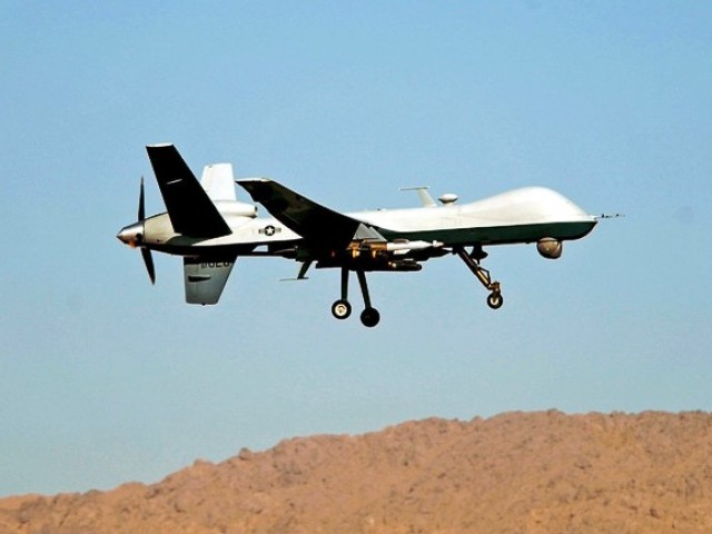 A US drone fired two missiles at a house in Datta Khel. PHOTO: AFP/ FILE
