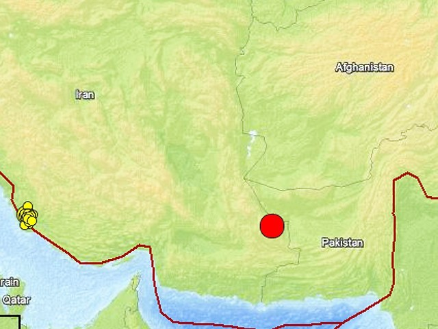USGS image shows epicenter of the earthquake in Iran. IMAGE: USGS