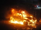 ANP senior leader Ghulam Bilour's car was targeted in the suicide attack. PHOTO: MUHAMMAD IQBAL/ EXPRESS