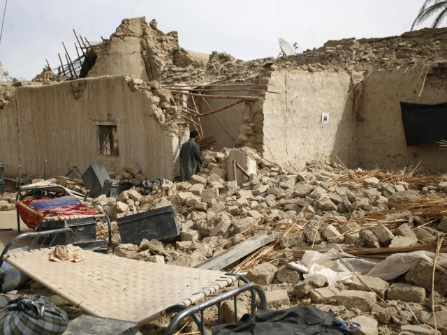 The 7.8-magnitude quake sent shockwaves that spread as far as Lahore and Karachi, though most of the damage took place in Balochistan's remote Mashkhel district. PHOTO: REUTERS