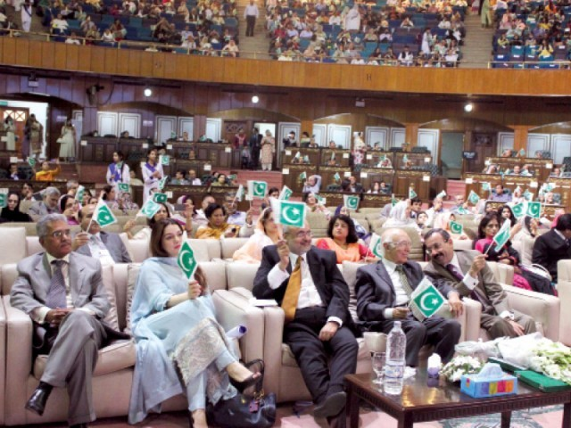 The colourful high achievers ceremony was held at the Convention Centre on Saturday. PHOTO: WAQAS NAEEM/EXPRESS