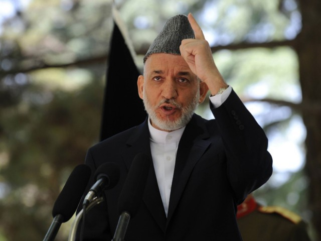 Afghan President Hamid Karzai. PHOTO: AFP