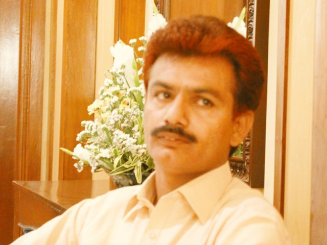 Gul Muhammad Keeriyo PTI's candidate from NA-213 Nawabshah (Shaheed Benazirabad district). PHOTO: HYDER ALI