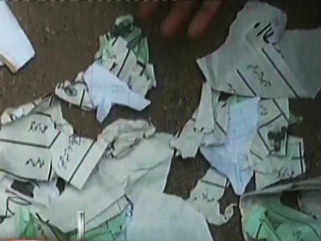 File photo of torn ballot papers. PHOTO: EXPRESS