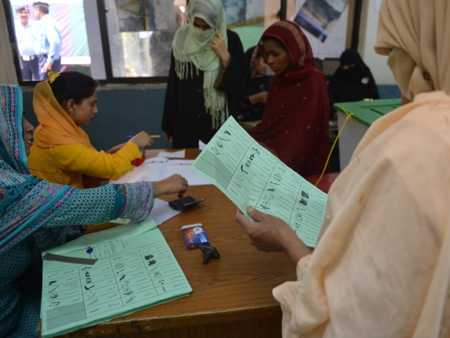 The electoral participation of women in the twin cities was historically unprecedented. PHOTO: AFP