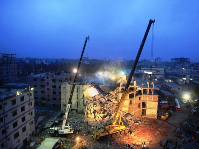 The collapse of the nine-storey Rana Plaza, which housed five separate garment factories, was the worst industrial disaster in Bangladeshi history. PHOTO: AFP