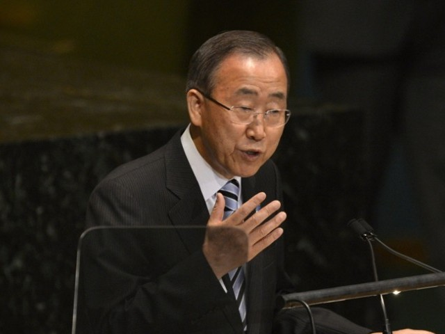 Ban Ki-Moon. PHOTO: AFP