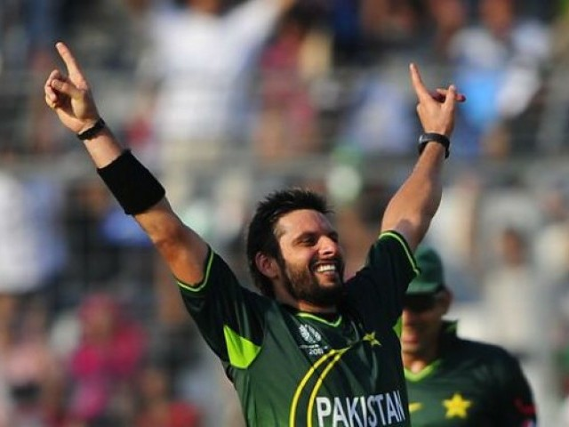 "Dashing all-rounder Shahid Afridi was lucky to retain his place in the ""A"" category. PHOTO: AFP/FILE"