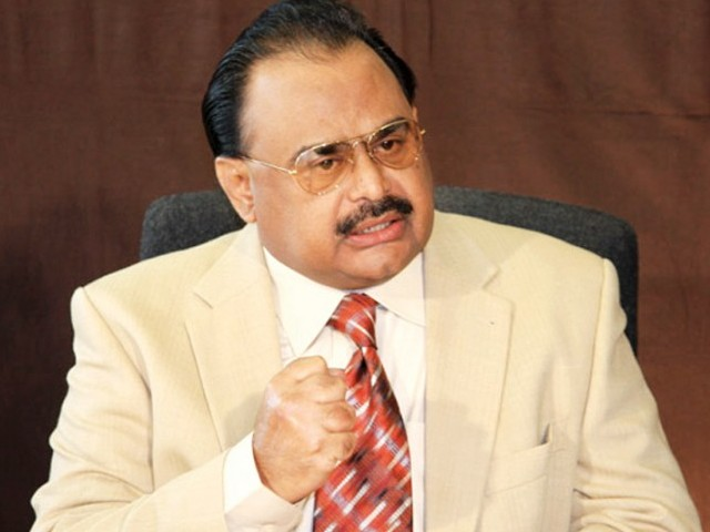 MQM chief Altaf Hussain. PHOTO: APP