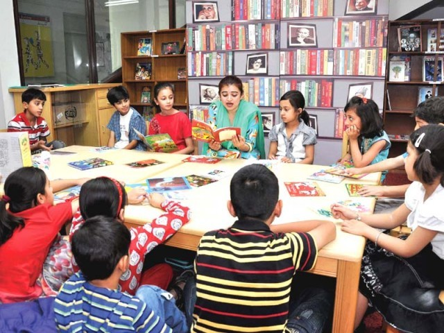 A file photo showing a reading session. PHOTO: NATIONAL BOOK FOUNDATION