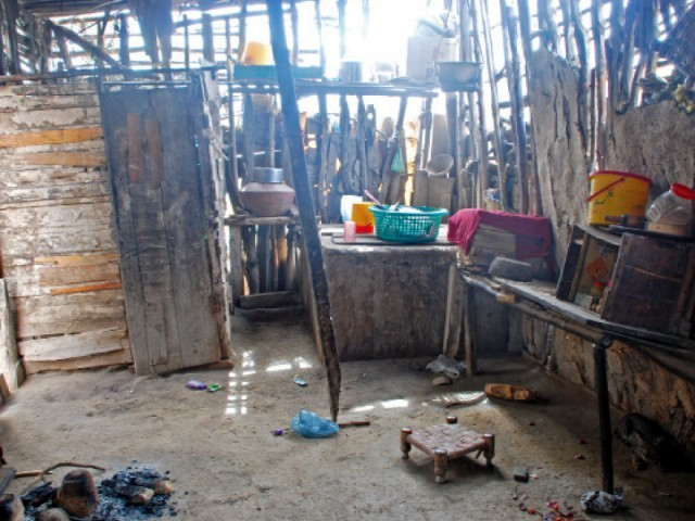 The kitchen of a house in one of the villages along the Indus River PHOTO COURTESY WWF-P