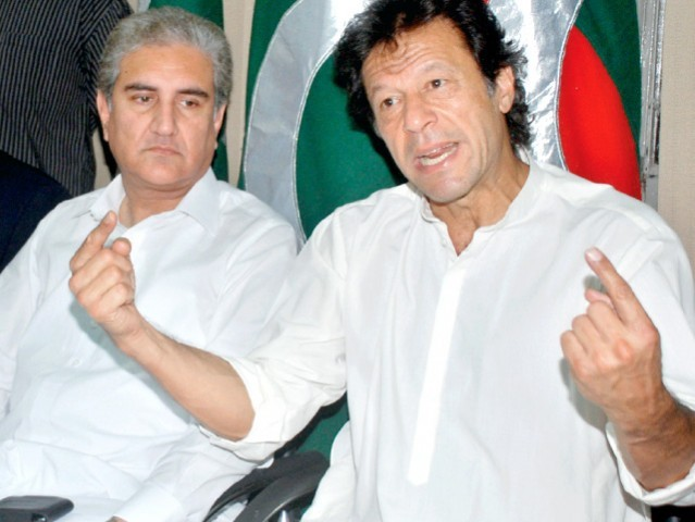 PTI chairman Imran Khan says the will support the government on drones. PHOTO: NNI/ FILE