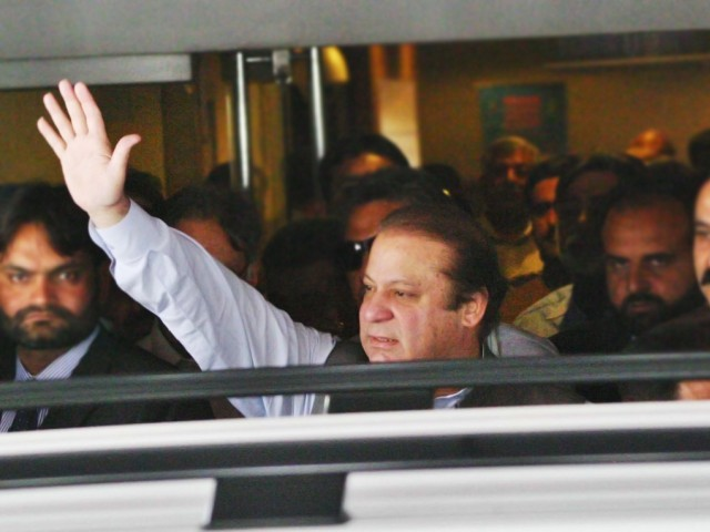 PML-N chief Nawaz Sharif. PHOTO: INP